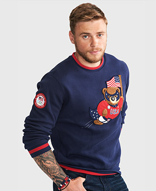 Team USA Polo Bear Sweatshirt
