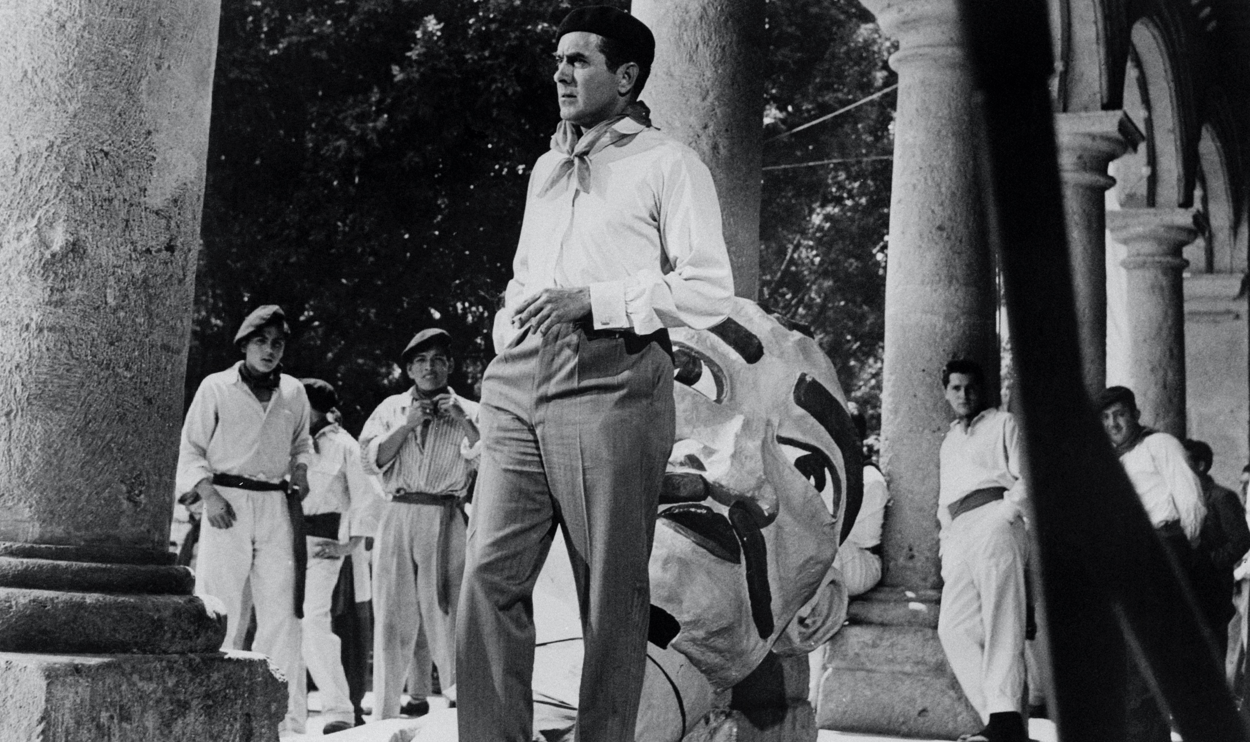 Tyrone Power in the 1957 film adaptation of <em>The Sun Also Rises</em>