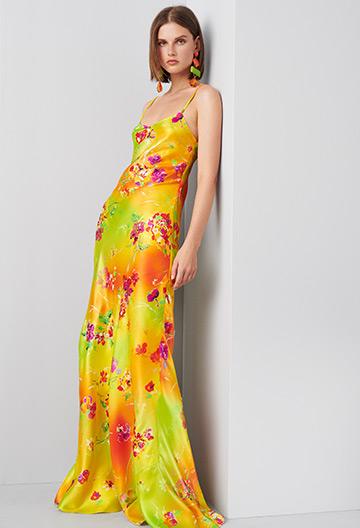 Evelyn Floral Evening Dress