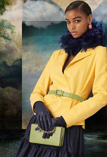 Alaina Lambskin Wrap Jacket