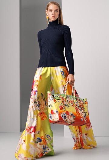 Kyrah Floral Silk Palazzo Pant