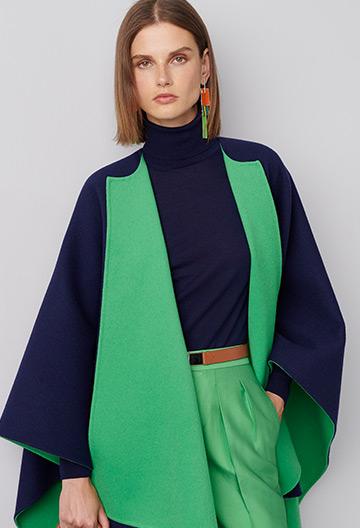 Kellin Virgin Wool Poncho