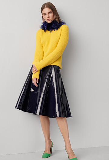 Clyde Patent Leather Skirt