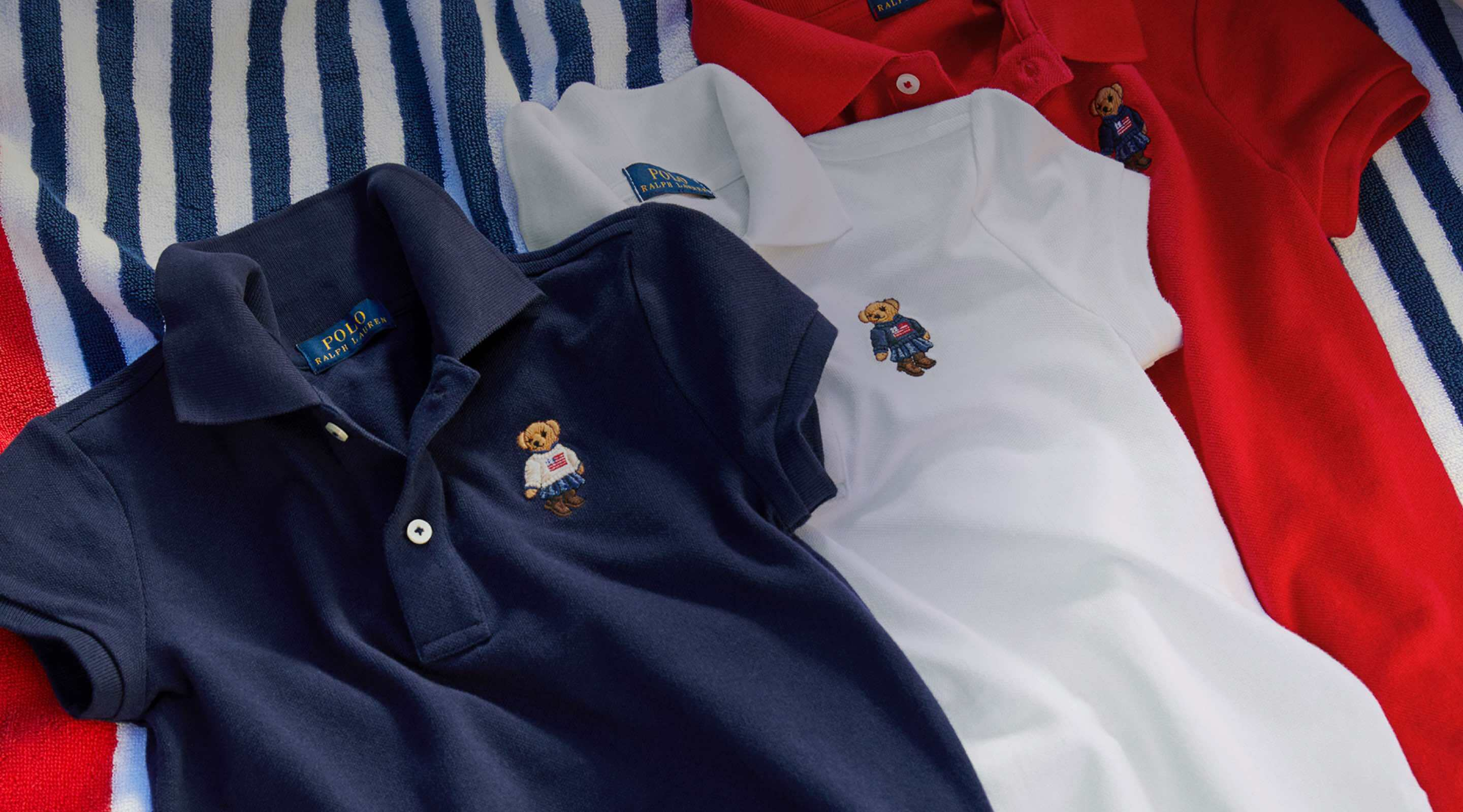 Polo shirts with different Polo Bear embroideries