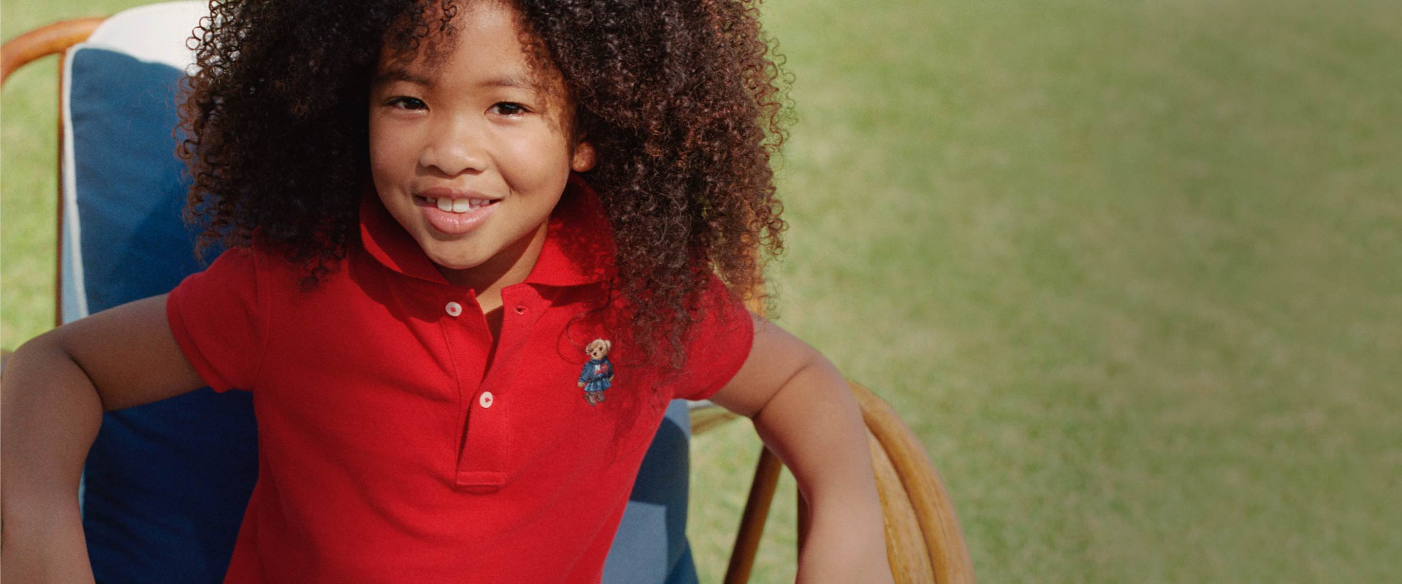 Kids in Polo shirts with different Polo Bear embroidery