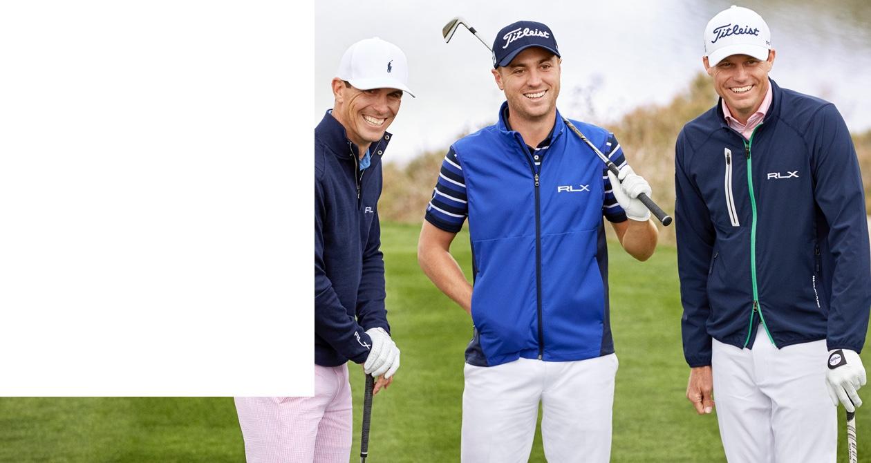 Professional golfers on the green in RLX Ralph Lauren apparel