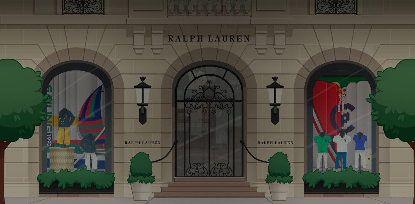 Video of Bitmojis within the World of Ralph Lauren