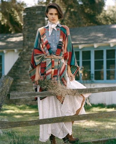 Floral Cotton A-Line Skirt