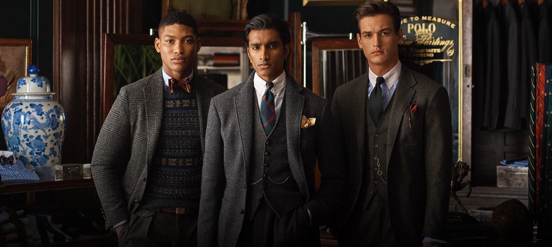 Men in cold-weather formalwear