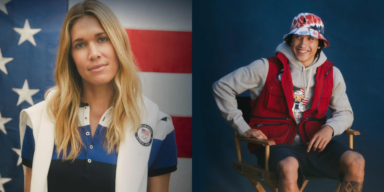 Olympic athletes in Ralph Lauren villagewear