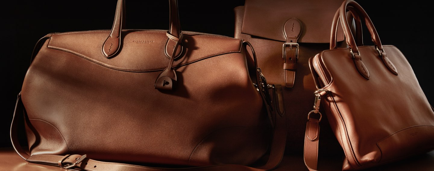 Various brown leather bags in different styles & sizes