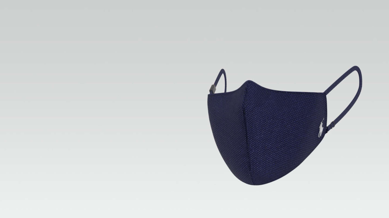 Black Polo filtration face mask.
