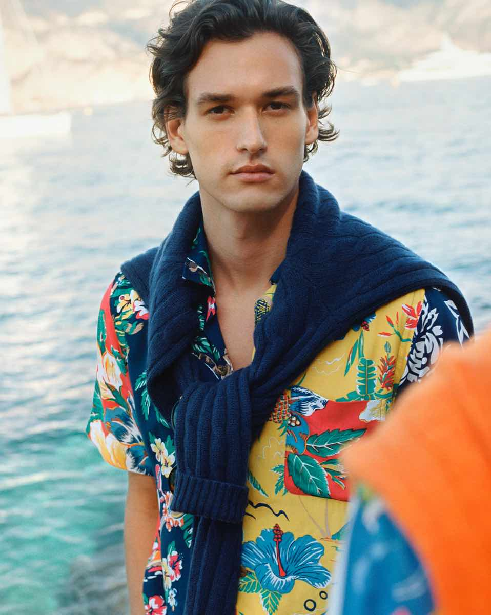 Classic Fit Tropical Patchwork Shirt