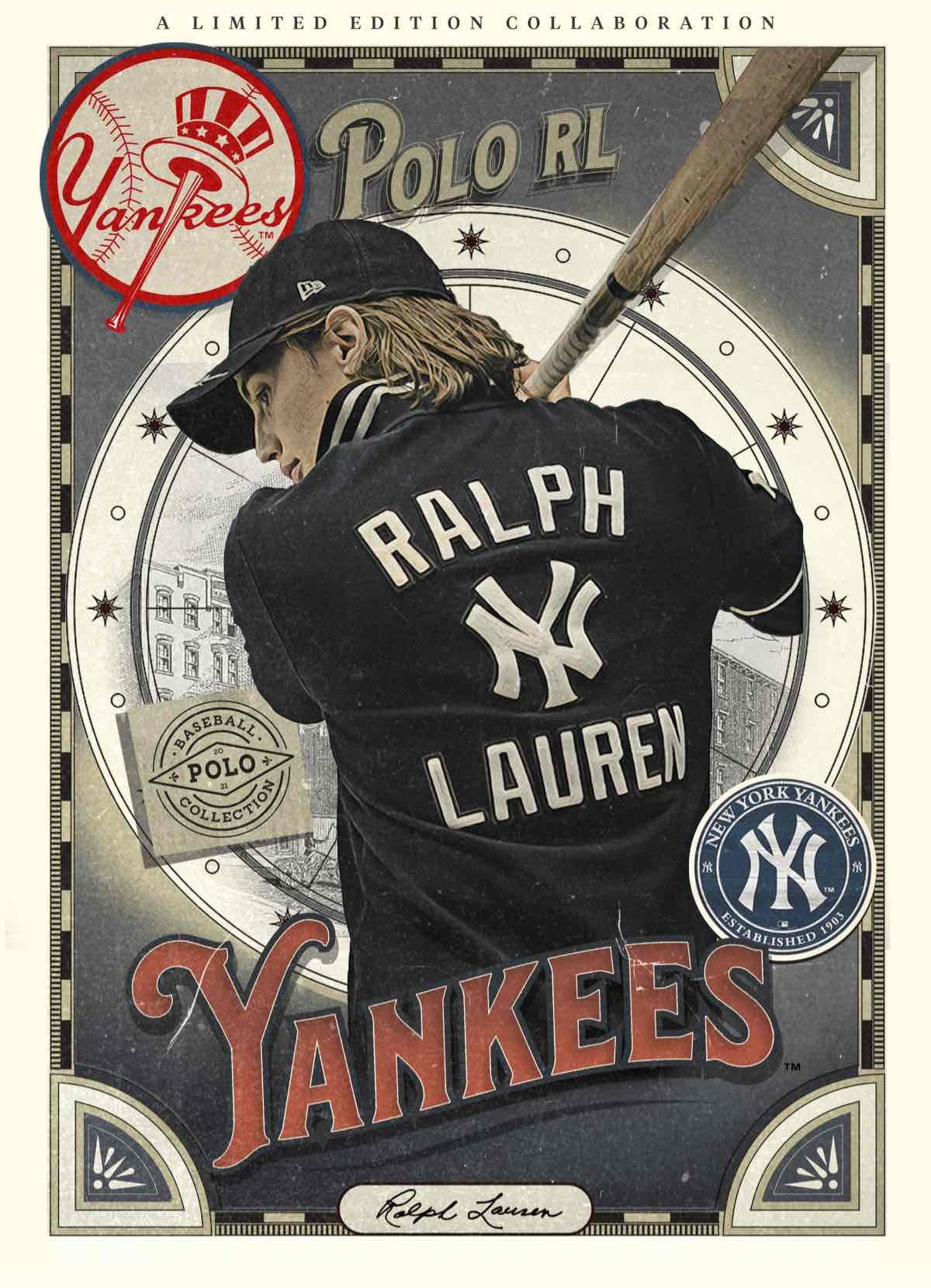 Illustration of Ralph Lauren Yankees trading card