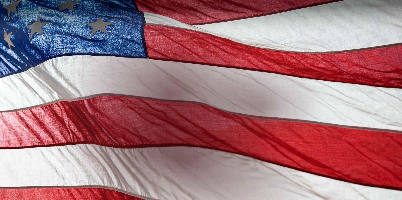 Photograph of American flag.