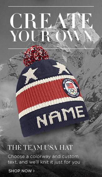 Create Your Own. The Team USA Hat: Choose a colorway and custom text, and we'll knit it just for you. Shop Now