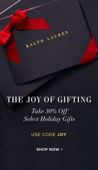 The Joy of Gifting: Take 30% Off Select Holiday Gifts. Use code JOY. Shop Now