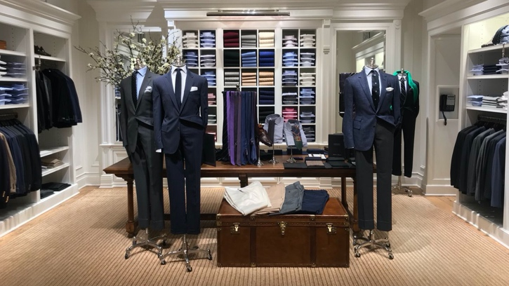 Photograph of the interior of the Ralph Lauren store at King of Prussia