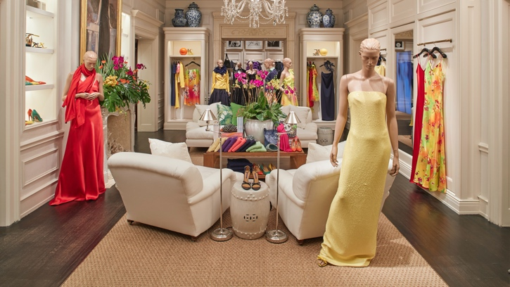 Photograph of the interior of the Ralph Lauren store in Palm Beach