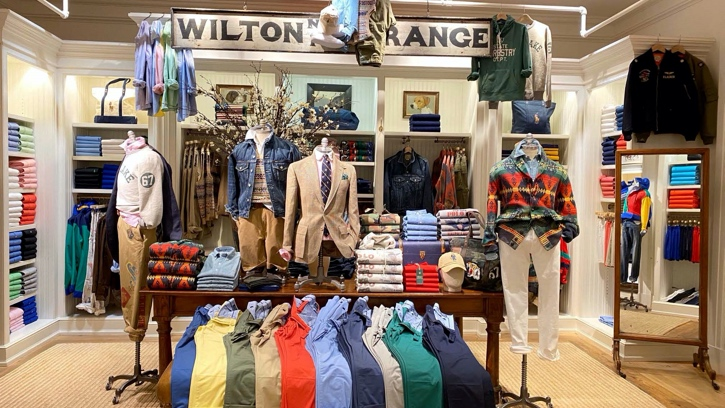 Photograph of the interior of the Ralph Lauren store in Short Hills