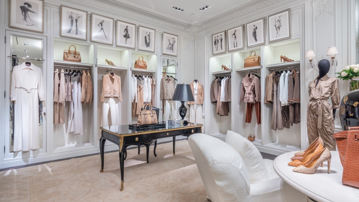 Photograph of the interior of Ralph Lauren Women's and Home Flagship