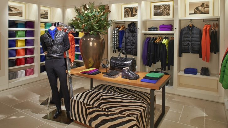 Photograph of the interior of the Ralph Lauren store in Costa Mesa