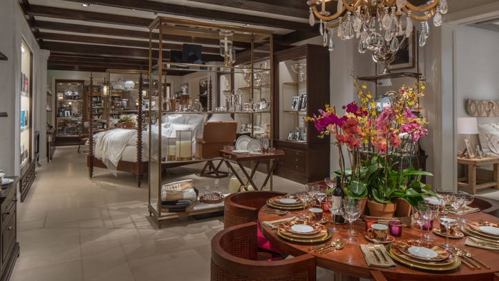 Photograph of the interior of the Ralph Lauren store in Beverly Hills