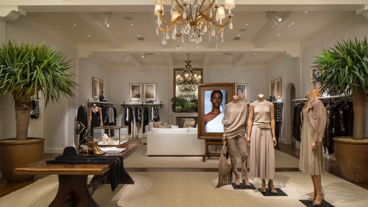 Photograph of the interior of the Ralph Lauren store in Chicago
