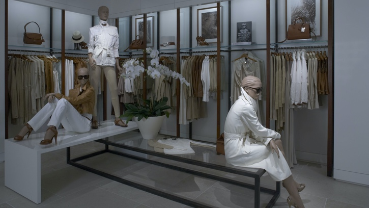 hotograph of the interior of the Ralph Lauren store in Bal Harbour