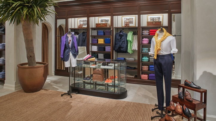 Photograph of the interior of the Ralph Lauren store in Houston