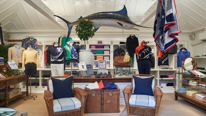 Photograph of the interior of the Ralph Lauren store in Southampton